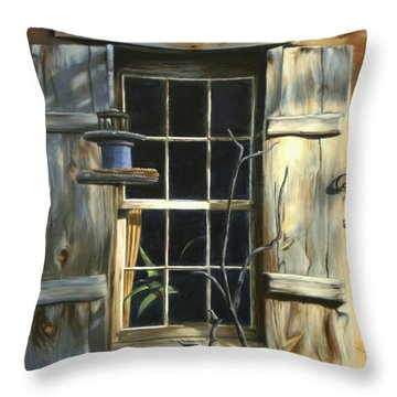 Window Throw Pillow by Madeleine Holzberg