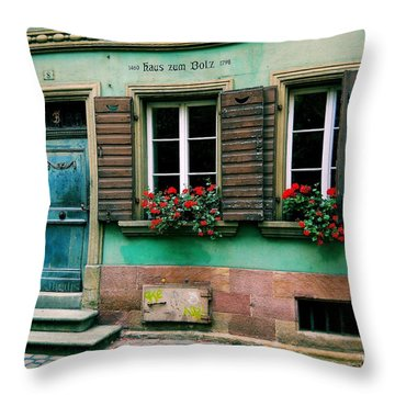 Throw Pillow featuring the photograph Windows And Doors 6 by Maria Huntley