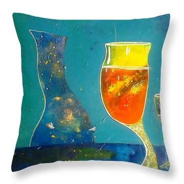 wine series II Throw Pillow