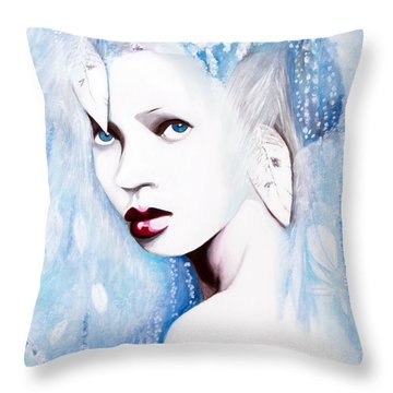Winter Throw Pillow by Denise Deiloh