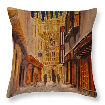 Winter In Canterbury Throw Pillow