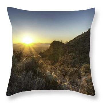 Winter Sunset Throw Pillow by Lynn Geoffroy