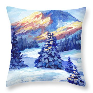 Winter Sunset  Throw Pillow by Peggy Wilson