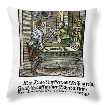 Wiredrawer, 1568 Throw Pillow by Granger