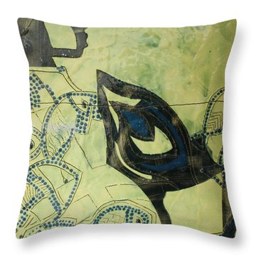 Wise Virgin Throw Pillow by Gloria Ssali