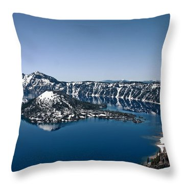 Wizard Island  Throw Pillow by Betty Depee