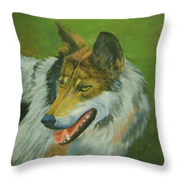 Wolf Throw Pillow by Ruth Seal