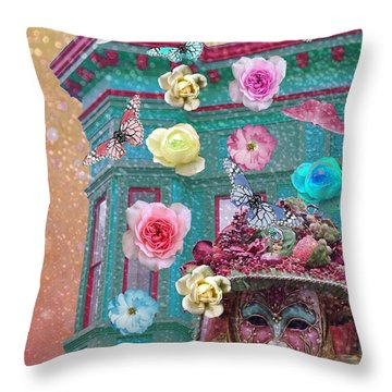 Wonderland Throw Pillow by Suzanne Powers