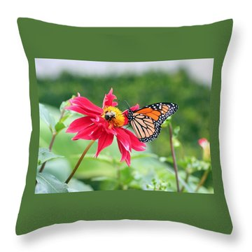 Working Together Throw Pillow