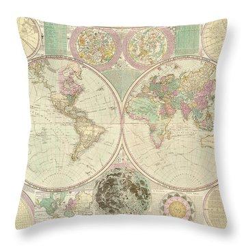 World Map Throw Pillow by Gary Grayson