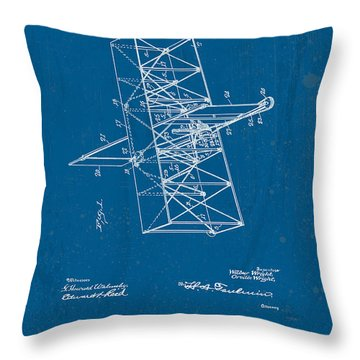 Wright Brothers Flying Machine Patent Throw Pillow