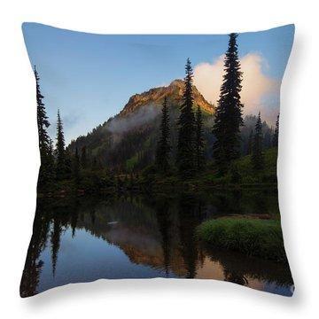 Yakima Peak Reflections Throw Pillow by Mike  Dawson