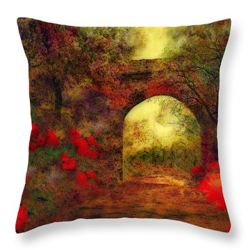 Ye Olde Railway Bridge Throw Pillow