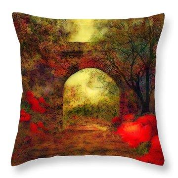 Ye Olde Railway Bridge Throw Pillow