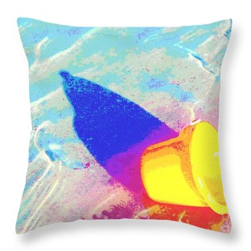 Yellow Pail Throw Pillow by Valerie Reeves