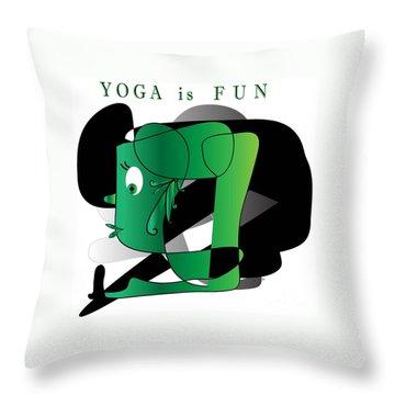 Yoga Throw Pillow by Iris Gelbart