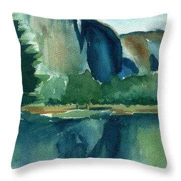 Yosemite National Park Throw Pillow by Frank Bright