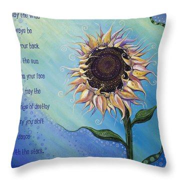 You Are My Sunshine Throw Pillow by Tanielle Childers