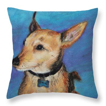 Throw Pillow featuring the painting Zack by Jeanne Fischer