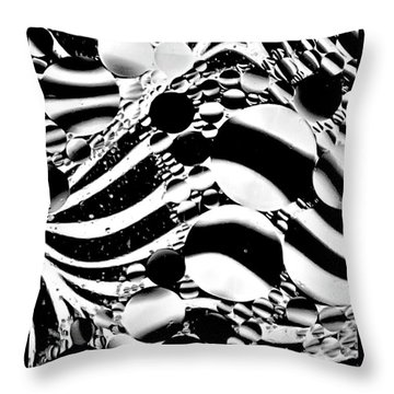 Zebra Through Oil Throw Pillow by Geraldine Alexander