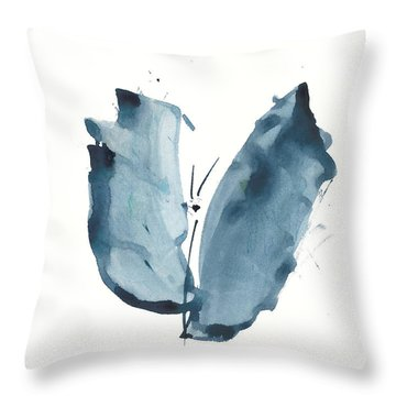 Throw Pillow featuring the painting Zen Butterfly Watercolor by Frank Bright
