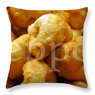 Throw Pillow featuring the photograph Zeppoli by Lilliana Mendez