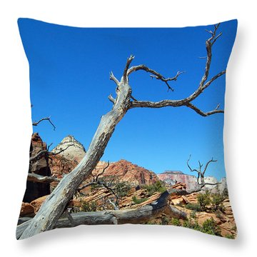 Zion Reaching Tree Throw Pillow