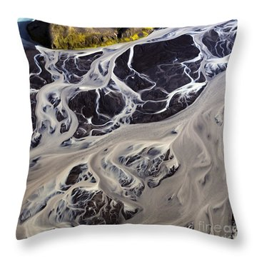 Iceland Aerial Photo Throw Pillow