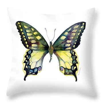 20 Old World Swallowtail Butterfly Throw Pillow