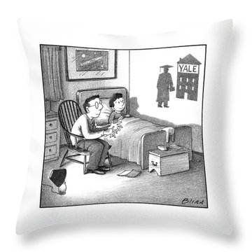 Yale Shadow Throw Pillow
