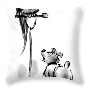 Would It Kill You To Say 'good Doggy' Once Throw Pillow