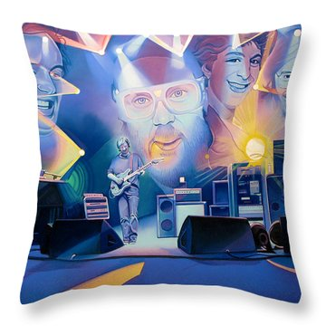 Throw Pillow featuring the drawing 20 Years Later by Joshua Morton