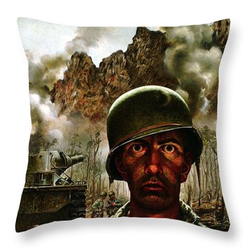 2000 Yard Stare Throw Pillow
