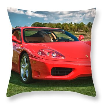2001 Ferrari 360 Modena Throw Pillow