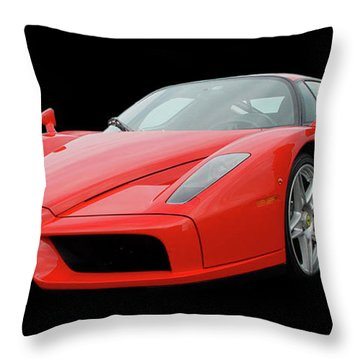 2002 Enzo Ferrari 400 Throw Pillow by Jack Pumphrey