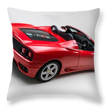 Throw Pillow featuring the photograph 2002 Ferrari 360 Spider by Gianfranco Weiss