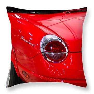 2002 Red Ford Thunderbird-rear Left Throw Pillow by Eti Reid