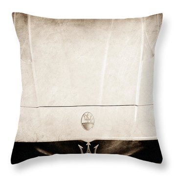 2005 Maserati Mc12 Hood Ornament Throw Pillow by Jill Reger