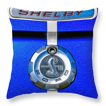 Throw Pillow featuring the photograph 2006 Shelby Mustang Gt by Trey Foerster
