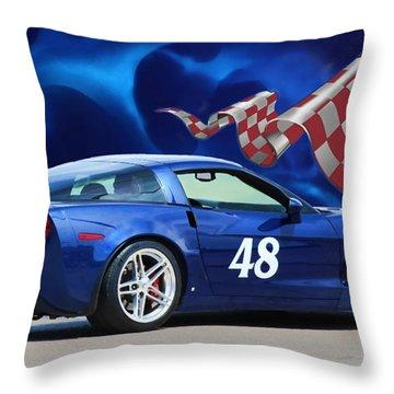 2007 Z06 Corvette Throw Pillow