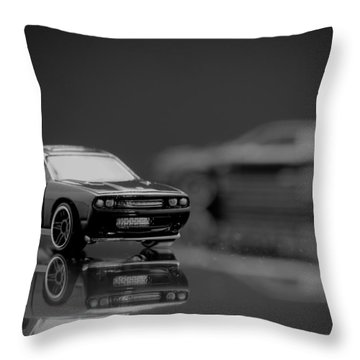 2008 Dodge Challenger Srt8 Throw Pillow by Wade Brooks