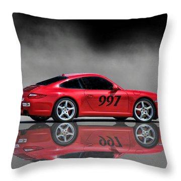 2009 Porsche Carrera Throw Pillow