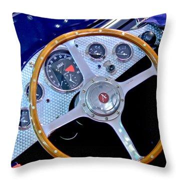 2010 Allard J2x Mk II Commemorative Edition Steering Wheel Throw Pillow by Jill Reger