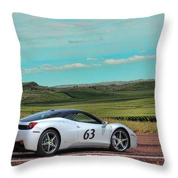 2010 Ferrari Throw Pillow