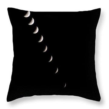 2010 Lunar Eclipse Throw Pillow by Benjamin Reed