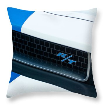2011 Dodge Challenger Rt Grille Emblem Throw Pillow by Jill Reger