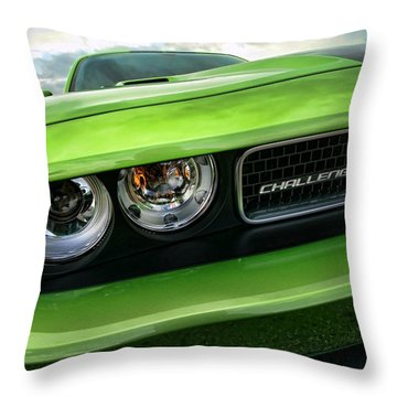 2011 Dodge Challenger Srt8 Green With Envy Throw Pillow by Gordon Dean II