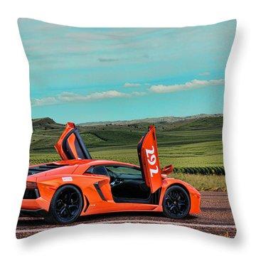 2012 Lamborghini Aventador Throw Pillow