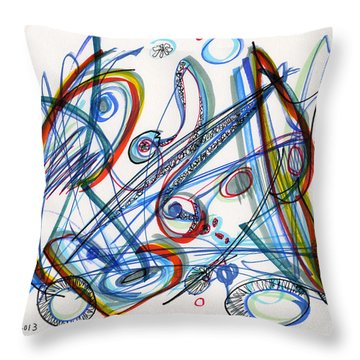 2013 Abstract Drawing #12 Throw Pillow