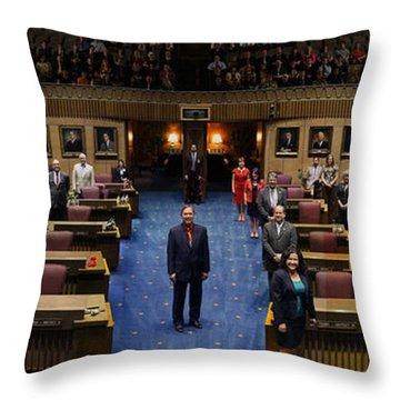 2013 Arizona Senate Portrait Throw Pillow